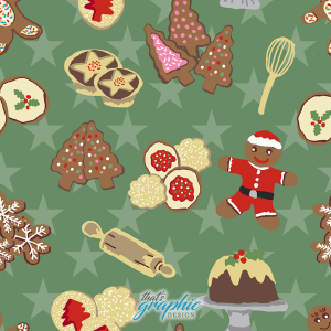 Christmas Baking Fabric pattern