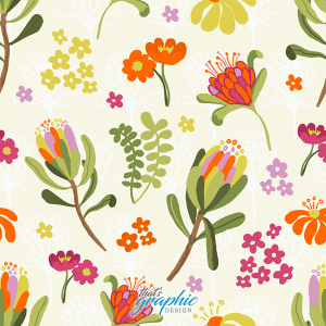 Cheery Flowers Repeat Pattern