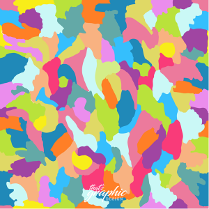 colorful abstract paint splosh pattern