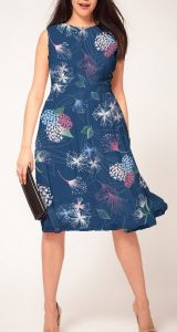 Whimsical Summer Flowers Fashion Print