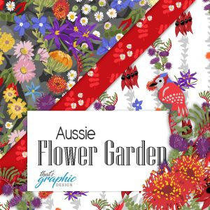 Australiana fabric - Australian native flowers
