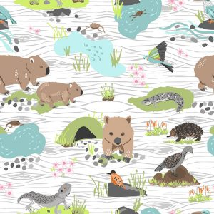 Australian Animals - Fabric Print