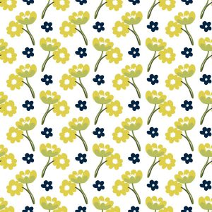 Mustard and navy Floral print