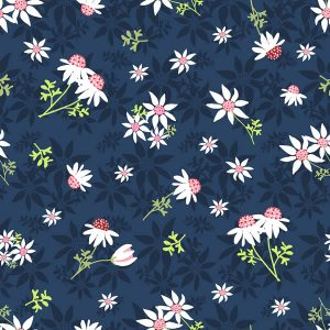 Mallee fabric Flannel flowers Australiana Aussie quilting fabric