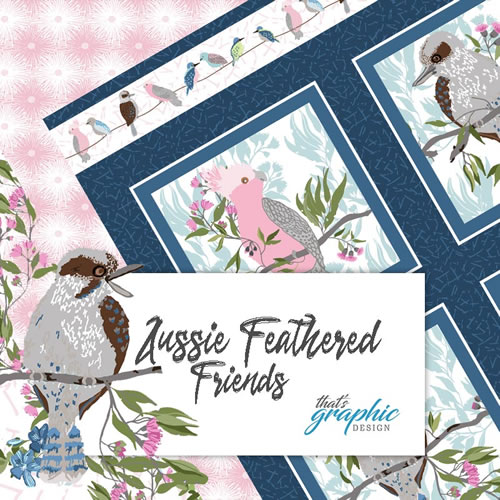 Aussie Feathered Friends Fabric