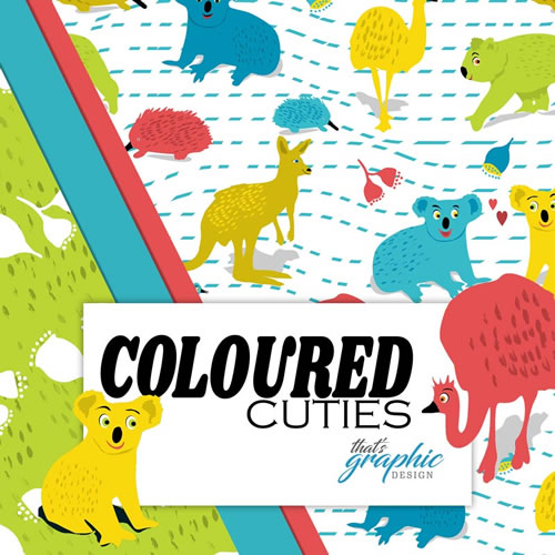 Coloured Cuties aussie animals fabric collection