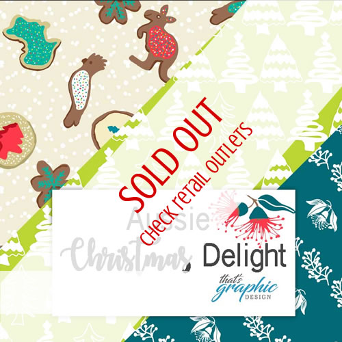 aussie christmas delights fabric
