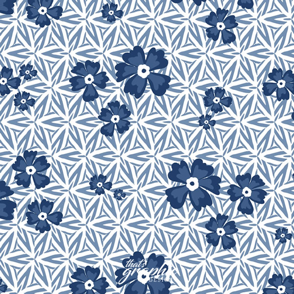 Repeat Pattern Geo Floral