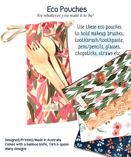 Eco Pouchs - toiletry bags, pencil holders, makeup brushes pouch