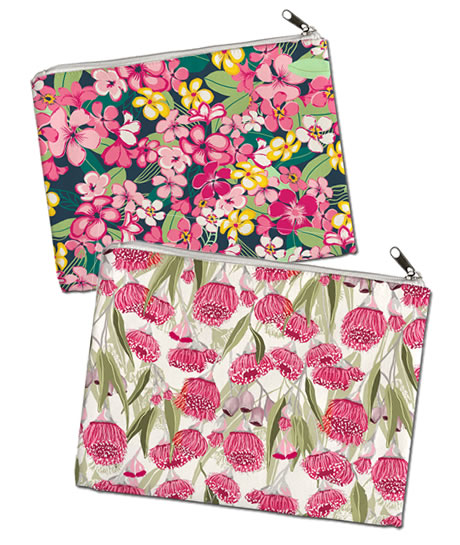 Australian designed and printed zipper purses by Annette Winter